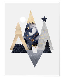 Premium-Poster Christmas Mountains