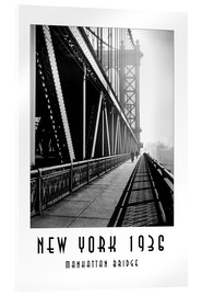 Acrylglasbild  Historisches New York, Manhattan Bridge - Christian Müringer