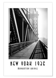 Premium-Poster Historisches New York, Manhattan Bridge