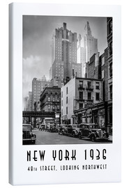 Leinwandbild  Historisches New York: Manhattan, 48th street, looking northwest - Christian Müringer