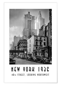 Premium-Poster Historisches New York: Manhattan, 48th street, looking northwest