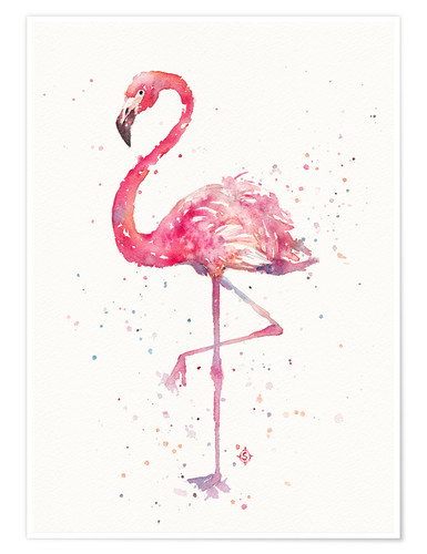 Sillier than sally a flamingos fancy poster online for Elegante wandbilder