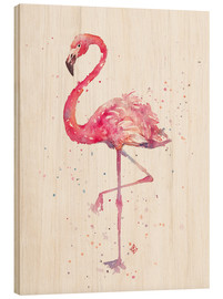 Holzbild  Fancy Flamingo - Sillier Than Sally