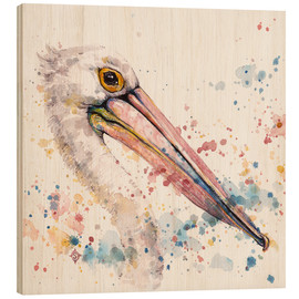 Holzbild  Pelicans About - Sillier Than Sally