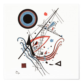 Premium-Poster  Lithographie blau - Wassily Kandinsky