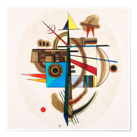 Premium-Poster  OVAL N°2 - Wassily Kandinsky