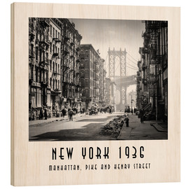 Holzbild  Historisches New York, Pike and Henry Street - Christian Müringer