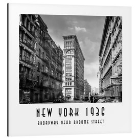 Alubild  Historisches New York, Broadway und Broome Street - Christian Müringer