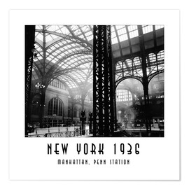 Premium-Poster Historisches New York, Manhattan, Penn Station