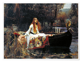 Poster  Die Dame von Shalott - John William Waterhouse