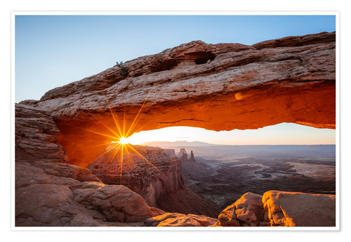 Premium-Poster Sonnenaufgang am Mesa Arch, Canyonlands Nationalpark, Utah, USA