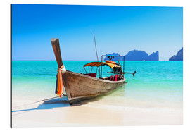 Alubild  Holzboot in Thailand