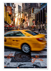 Premium-Poster Yellow Cab New York