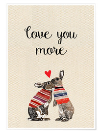 Premium-Poster Love you more