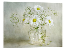 Acrylglas  Still life with Chrysanthemums - Mandy Disher