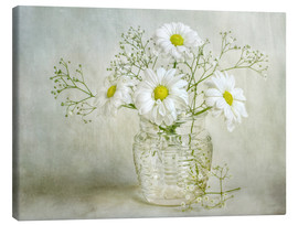 Leinwandbild  Still life with Chrysanthemums - Mandy Disher