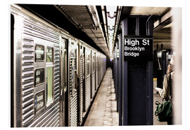 Hartschaumbild  New York City Subway - Sascha Kilmer
