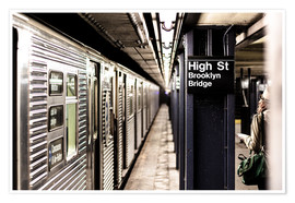 Premium-Poster New York City Subway