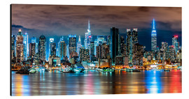 Alubild  New York Skyline by Night - Sascha Kilmer