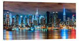 Leinwandbild  New York Skyline by Night - Sascha Kilmer