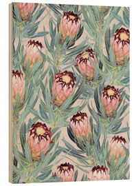 Holzbild  Pale Painted Protea Neriifolia - Micklyn Le Feuvre