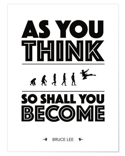 Premium-Poster As you think - Bruce Lee