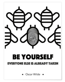 Premium-Poster Be yourself - Oscar Wilde
