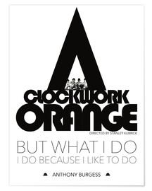 Premium-Poster Clockwork orange - Stanley Kubrick