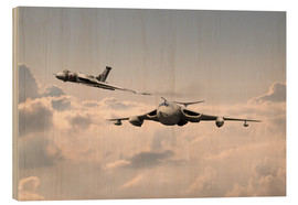 Holzbild  Victor and Vulcan - airpowerart
