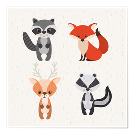 Premium-Poster  Tiere des Waldes - Kidz Collection