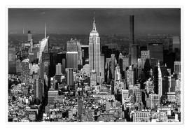 Premium-Poster  New York, Midtown Manhattan mit Empire State Building - Sascha Kilmer