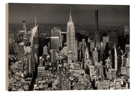 Holzbild  New York, Midtown Manhattan mit Empire State Building - Sascha Kilmer