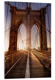 Acrylglasbild  Brooklyn Bridge NYC - Sören Bartosch