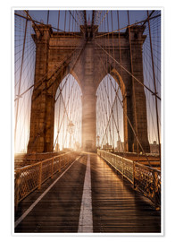 Premium-Poster Brooklyn Bridge NYC