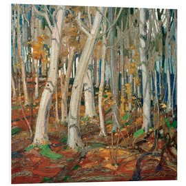 Hartschaumbild  Maple Woods, Bare Trunks - Tom Thomson