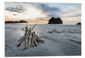 Hartschaumbild  Wharariki Beach - NZ - Thomas Klinder