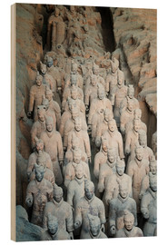 Holzbild  Museum of the Terracotta Warriors, Mausoleum of the first Qin Emperor, Xian, Shaanxi Province, China - G & M Therin-Weise