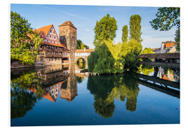 Hartschaumbild  Old timbered houses and hanging tower, Nuremberg, Middle Franconia, Bavaria, Germany, Europe - Michael Runkel