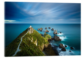 Acrylglas  Nugget Point Lighthouse, Nugget Point, Otago, South Island, New Zealand, Pacific - John Alexander