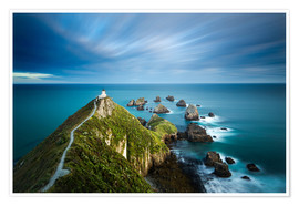 Premium-Poster  Nugget Point Lighthouse, Nugget Point, Otago, South Island, New Zealand, Pacific - John Alexander