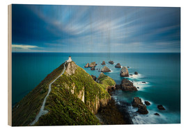 Holzbild  Nugget Point Lighthouse, Nugget Point, Otago, South Island, New Zealand, Pacific - John Alexander