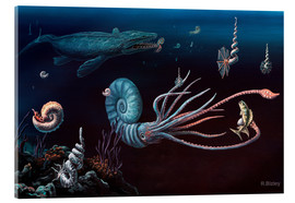 Acrylglasbild  Cretaceous marine animals, artwork - Richard Bizley