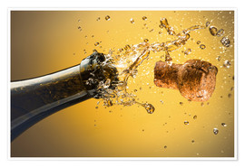 Premium-Poster  Champagne bottle and cork - Ktsdesign