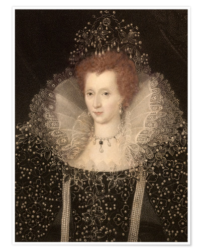 Premium-Poster 1570 Queen Elizabeth I of England and Ire