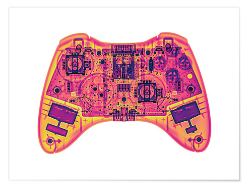 Premium-Poster Computer game controller, X-ray