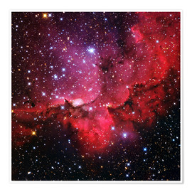 Premium-Poster  NGC 7380 star cluster, optical image