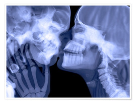 Premium-Poster Lovers kissing, X-ray