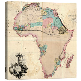 Leinwandbild  Map of Africa, 1802