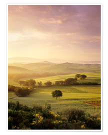 Premium-Poster Sonnenaufgang in Val d'Orcia