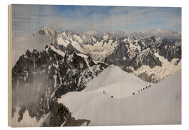 Holzbild  Mountaineers and climbers - Peter Richardson